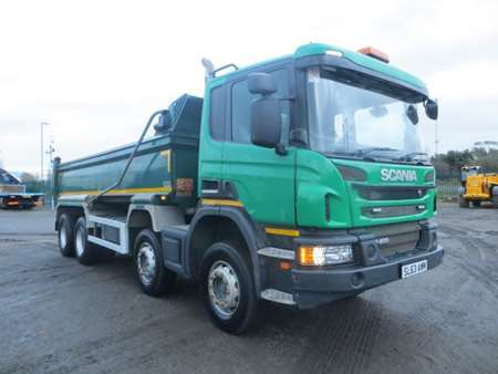 2014 (63) Scania P400 8x4 Steel Tipper (9818)
