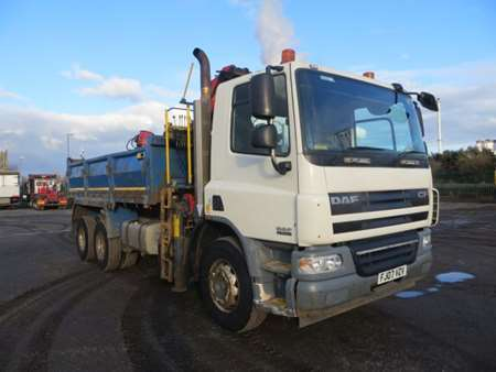 2007 (07) DAF 75Cf.310 6x4 Steel Tipper Grab (9945)