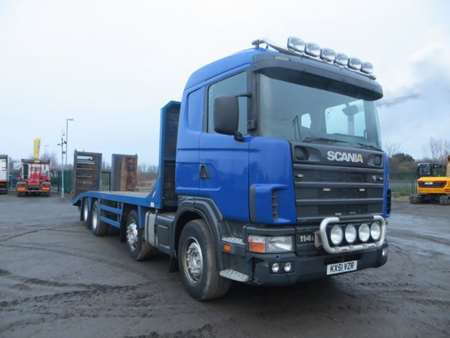 2001 (51) Scania 114L.380 8x2 Rear Lift 32T Beavertail (9888)