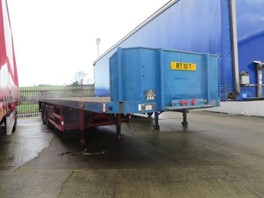 1998 Broshuis 3AOU14.22 Extending Tri Axle Flatbed Trialer