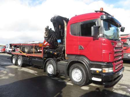 2007 (07) Scania R380 8x4 Flatbed with Copma 600.5 Crane