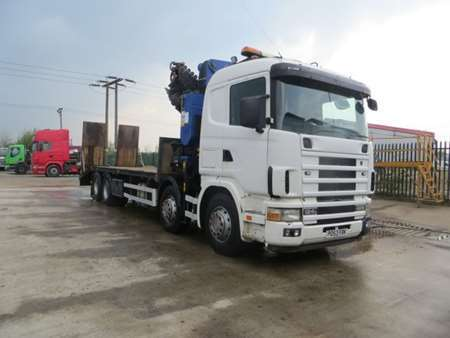 2003 (53) Scania 124L 420 8x2 Rear Lift Beaver Tail (10993)