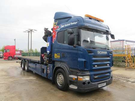 2008 (58) Scania R420 6x2 Rear Lift 26T Flatbed (10986)