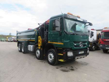 2011 Mercedes Actros 3236 8x4 Steel Tipper Grab (11028)