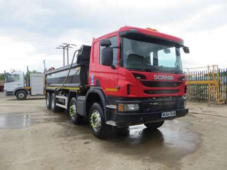 2014 (64) Scania P410 8x4 Steel Tipper (11035)