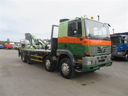 2002 FODEN CX3000 8X4 FLAT REAR MOUNTED CRANE