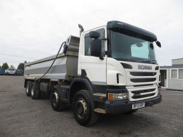 2013 (13) Scania P400 8x4 Steel Tipper (11253)