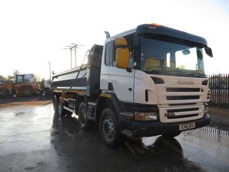 2011 (61) Scania P400 8x4 Steel Tipper (11305)