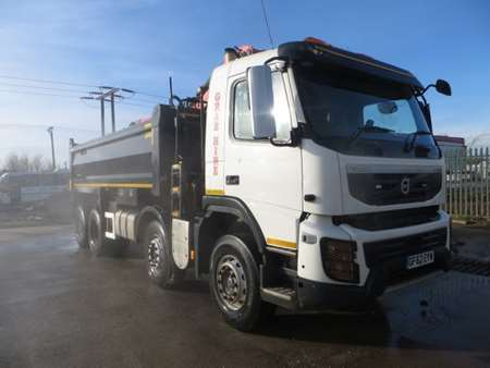 2012 (62) Volvo FMX420 8x4 Steel Tipper Grab (11514)