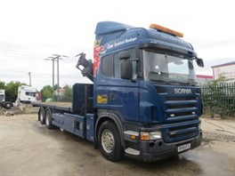 2008 (58) Scania R420 Highline 6x2 Rearlift 26T Flatbed (11676)