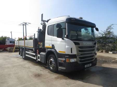 2013 (13) Scania P280 6x2 Rearlift Dropside Flatbed (11964)