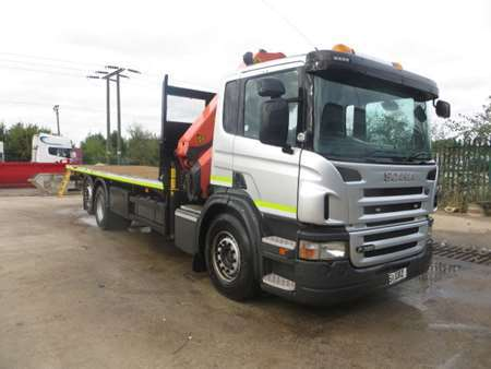 2011 (61) Scania P320 6x2 Rearlift Flatbed (11963)