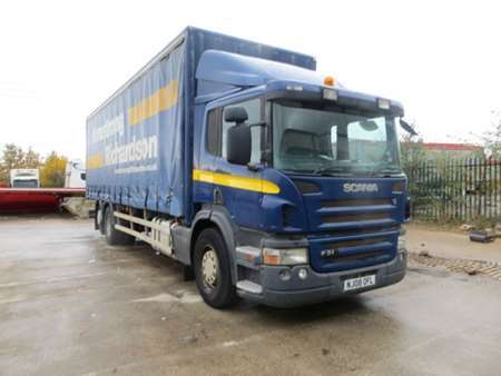 2008 (08) Scania P310 6x2 Rearlift 26T Curtainsider (12020)